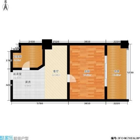 纽约之星2室0厅1卫0厨84.00㎡户型图