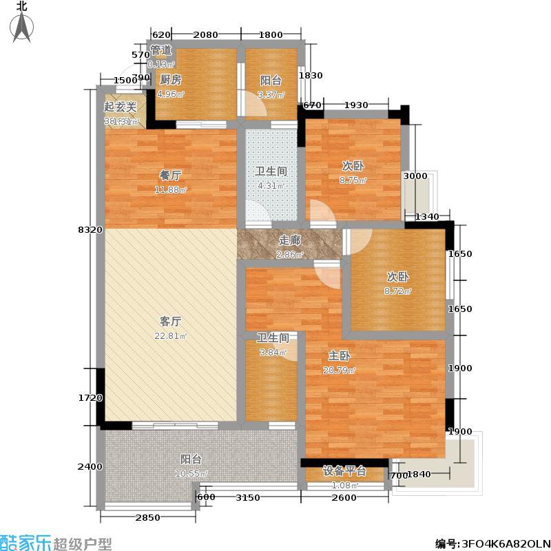 浩立碧海湾113.00㎡286浩立碧海湾浩立碧海湾5号楼5-C、E户型三室两厅两卫套内113㎡户型图户型3室2厅2卫