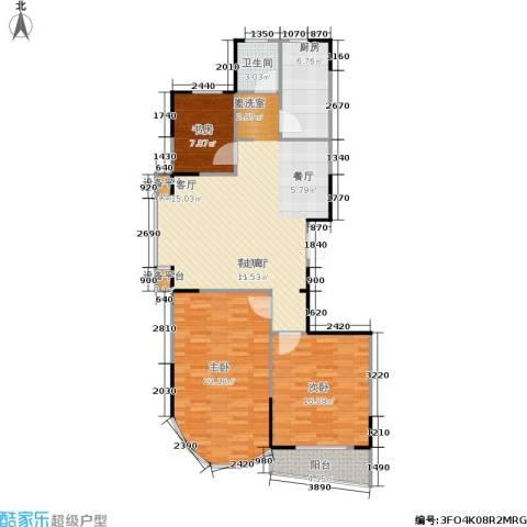 雍景台3室1厅1卫1厨103.00㎡户型图