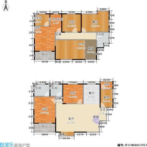美都香域5室1厅4卫1厨196.27㎡户型图