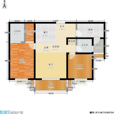 唐南香榭2室0厅2卫1厨110.00㎡户型图