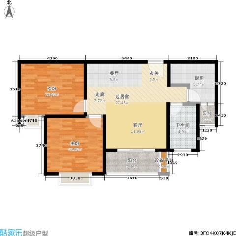 芙蓉名园2室0厅1卫1厨80.00㎡户型图