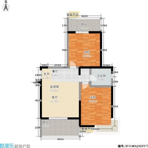 爱菊佳园2室0厅1卫0厨101.00㎡户型图