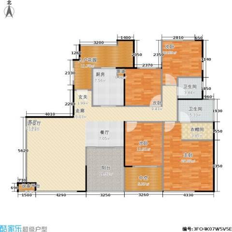 万科金色家园4室1厅2卫1厨166.00㎡户型图