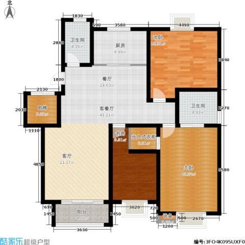 尚品清河3室1厅2卫1厨140.00㎡户型图