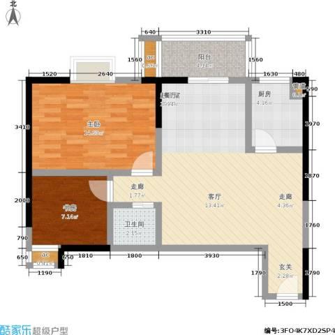 新 芙蓉之都 芙蓉之都2室0厅1卫1厨91.00㎡户型图