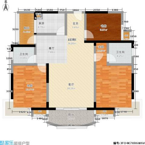 新 芙蓉之都 芙蓉之都3室0厅2卫1厨112.17㎡户型图