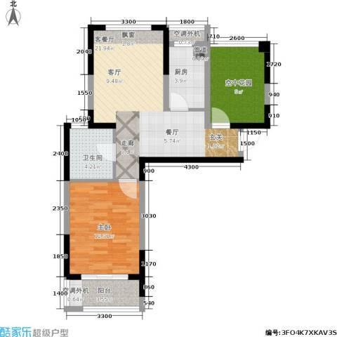 圣都大厦1室1厅1卫1厨63.95㎡户型图