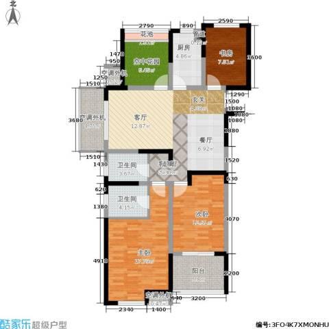 圣都大厦3室1厅2卫1厨115.87㎡户型图