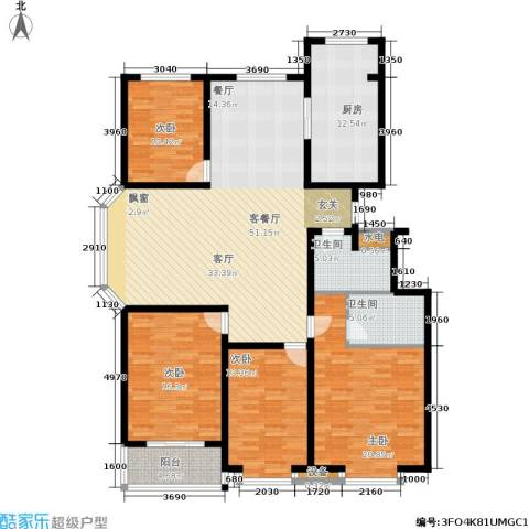 伟东新都4室1厅2卫1厨170.00㎡户型图