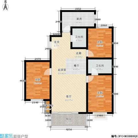 乾唐雁月3室0厅2卫1厨116.00㎡户型图