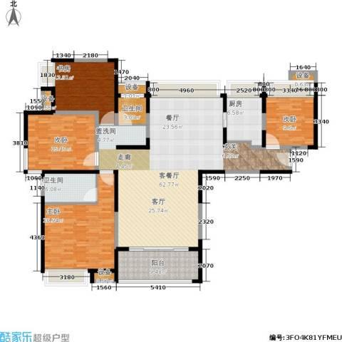 保利花园4室1厅2卫1厨171.00㎡户型图