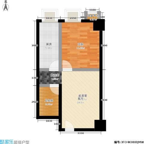 南门国际1室0厅1卫1厨45.00㎡户型图