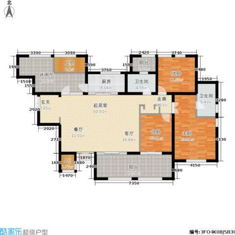 融汇江山3室0厅2卫1厨207.00㎡户型图