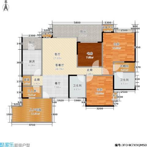 东和院・叠院3室1厅2卫1厨148.00㎡户型图