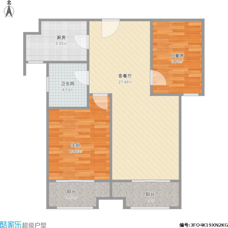绿地泉景嘉园2室-96平+改后户型