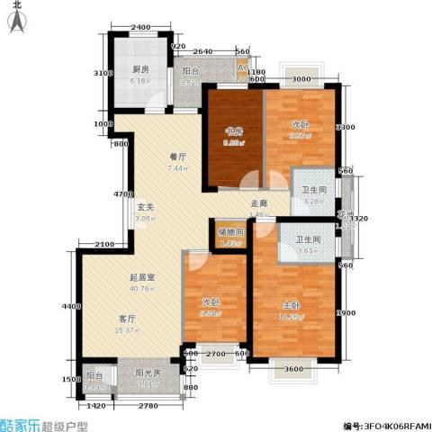 紫薇臻品4室0厅2卫1厨137.00㎡户型图