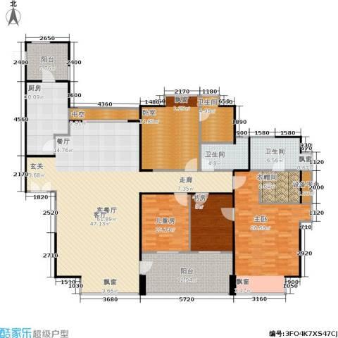 万科金域蓝湾3室1厅3卫1厨188.00㎡户型图