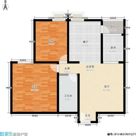 龙记帝景湾2室0厅1卫1厨114.00㎡户型图