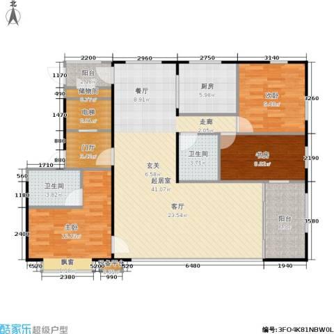 盟科视界3室0厅2卫1厨136.00㎡户型图