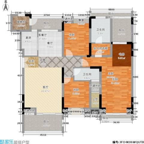 曲江南苑3室1厅2卫1厨191.00㎡户型图