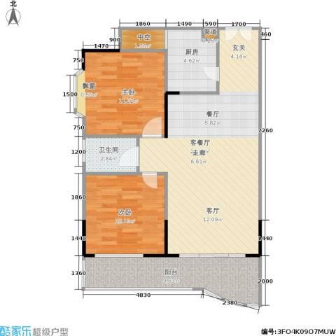 祥福小景2室1厅1卫1厨94.00㎡户型图