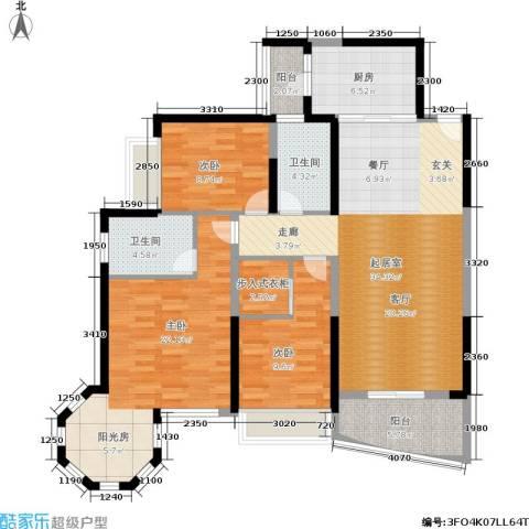 盛世一品3室0厅2卫1厨129.00㎡户型图