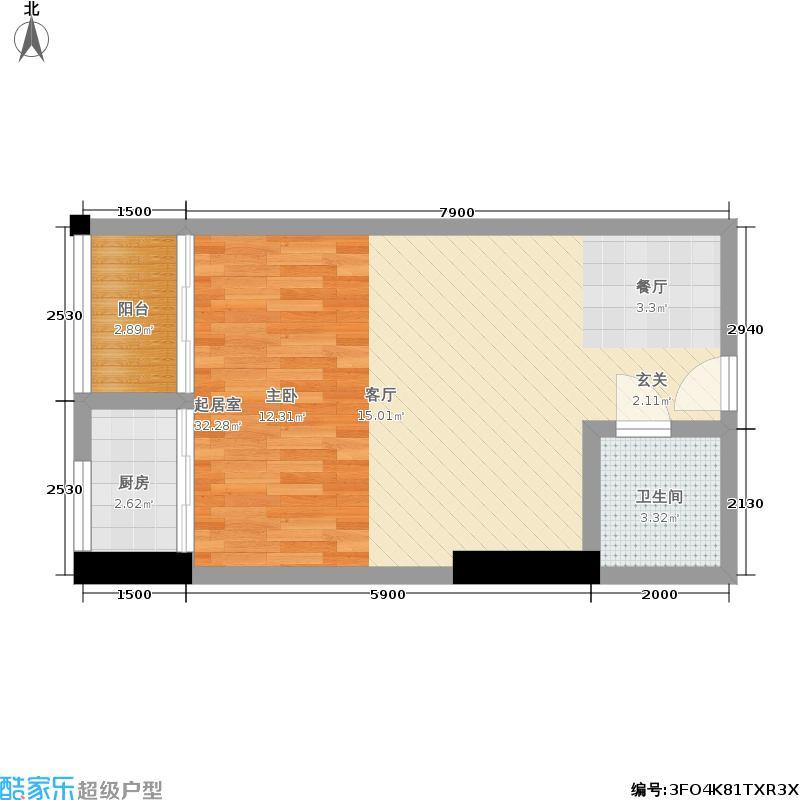 新一代国际公寓47.00㎡户型