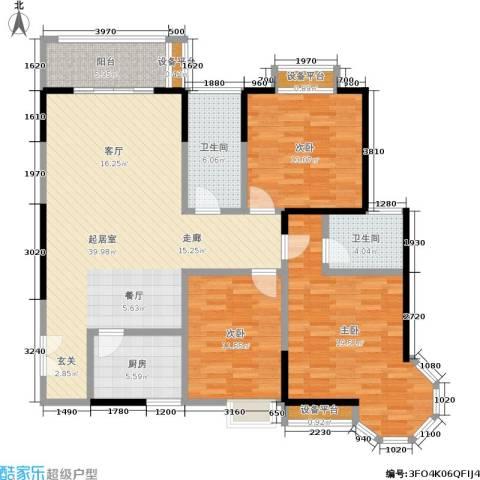 龙记帝景湾3室0厅2卫1厨121.00㎡户型图