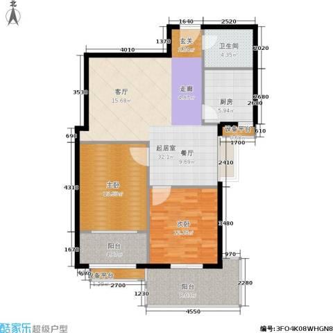 玫瑰坊2室0厅1卫1厨92.00㎡户型图