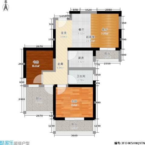 盛世一品2室0厅1卫1厨70.00㎡户型图