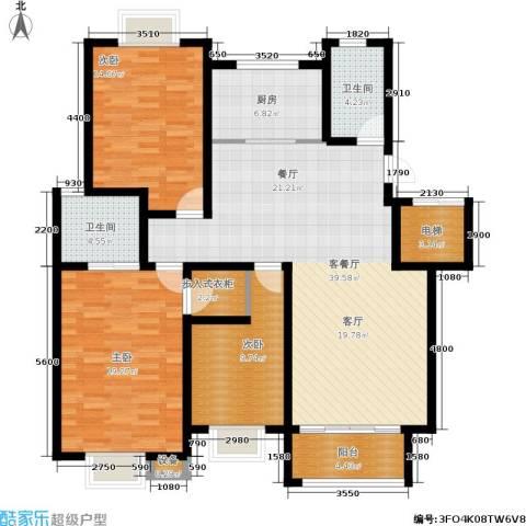 尚品清河3室1厅2卫1厨138.00㎡户型图