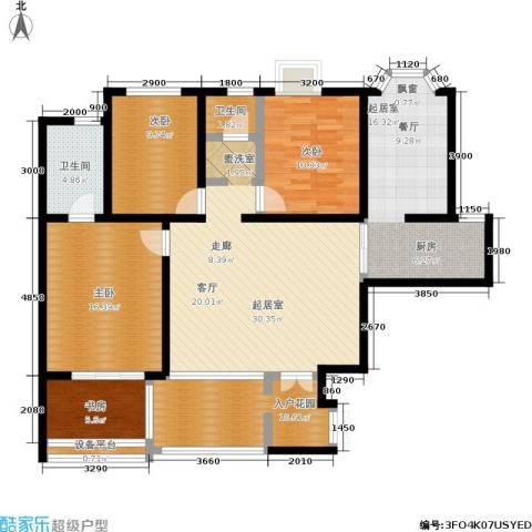 曲江观唐4室0厅2卫0厨110.00㎡户型图