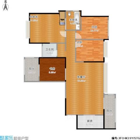建发中央鹭洲3室1厅1卫1厨153.00㎡户型图