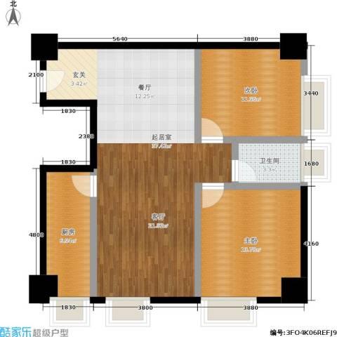 南门国际2室0厅1卫1厨84.00㎡户型图