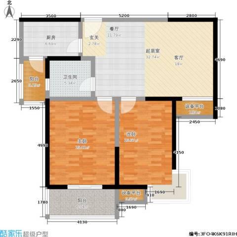 爱菊佳园2室0厅1卫1厨101.00㎡户型图