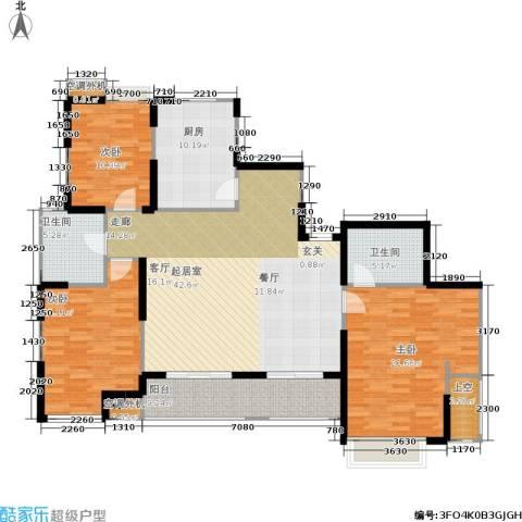 枫林意树3室0厅2卫1厨157.00㎡户型图
