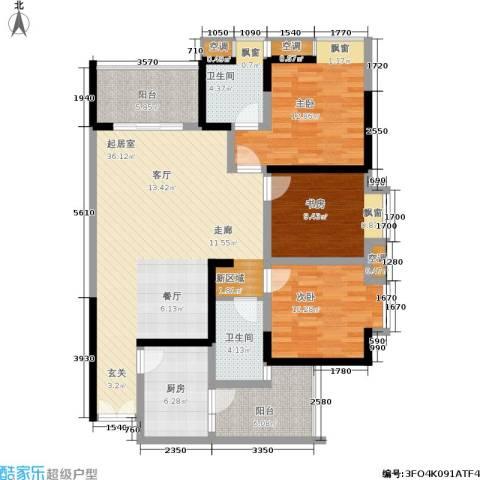 天工太阳岛3室0厅2卫1厨141.00㎡户型图