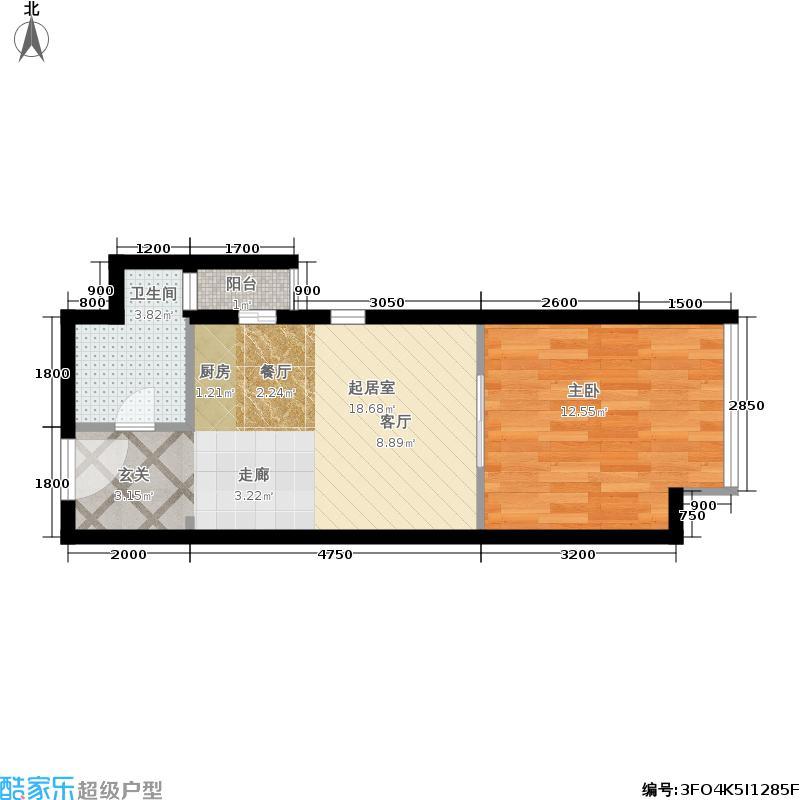 莱安逸境48.00㎡莱安逸境户型图6号楼A户型阳光卫浴(2/7张)户型10室