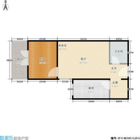 澳城大厦1卫1厨55.00㎡户型图
