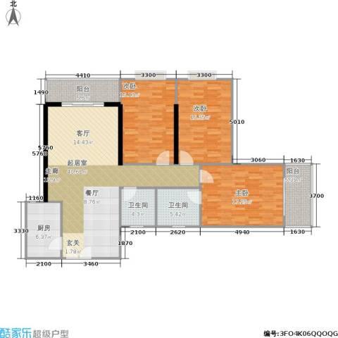 天赐福地3室0厅2卫1厨129.00㎡户型图