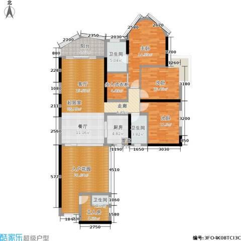 佳大银湾3室0厅3卫1厨146.00㎡户型图
