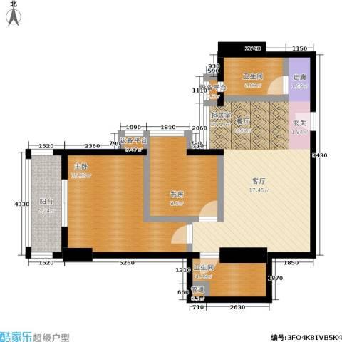 柠檬宫舍2室0厅2卫0厨78.00㎡户型图