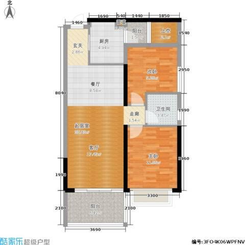 佳大银湾2室0厅1卫1厨81.00㎡户型图