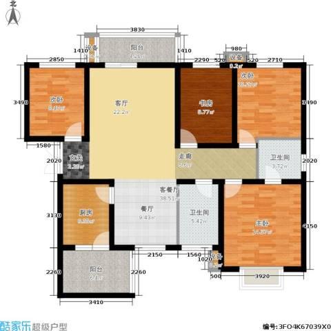 中环国际城4室1厅2卫1厨119.00㎡户型图