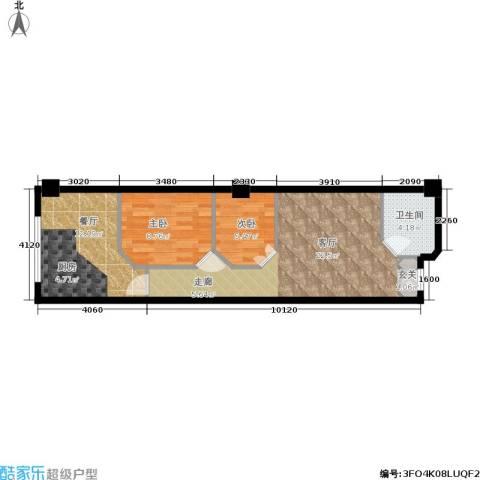 荣民国际公寓2室2厅1卫0厨60.00㎡户型图