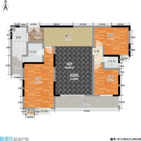 天健芙蓉盛世3室0厅2卫1厨148.00㎡户型图