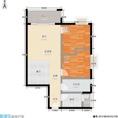 宏康东筑2室0厅1卫1厨72.00㎡户型图