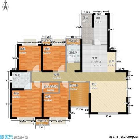 枫林意树4室0厅2卫1厨157.00㎡户型图