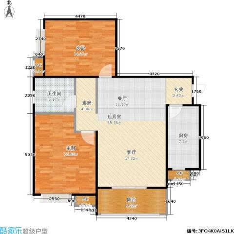 市政馨苑2室0厅1卫1厨94.00㎡户型图